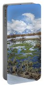 Grand Tetons From Willow Flats In Early April Portable Battery Charger