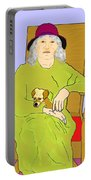 Grandma And Puppy Portable Battery Charger