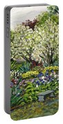 Grandmother's Garden Spring Blossoms Portable Battery Charger