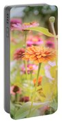 Grandmother's Zinnia Portable Battery Charger