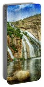 Granite Mountain Waterfall - Vintage Version Portable Battery Charger