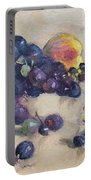 Grape And Peach Portable Battery Charger