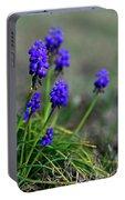 Grape Hyacinth Portable Battery Charger