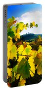 Grape Leaves And The Sky Portable Battery Charger by Elaine Plesser