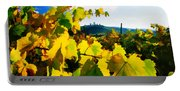 Grape Leaves And The Sky Portable Battery Charger