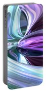 Grapes And Cream Abstract Portable Battery Charger
