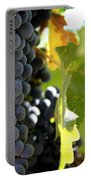 Grapes Portable Battery Charger by Nancy Ingersoll
