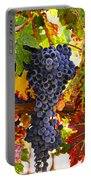 Grapes On Vine In Vineyards Portable Battery Charger