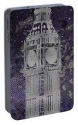 Graphic Art London Big Ben - Ultraviolet And Silver Portable Battery Charger
