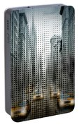 Graphic Art Nyc 5th Avenue Traffic V Portable Battery Charger by Melanie Viola