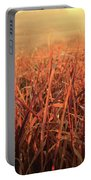 Grass Dyed In The Morning Glow Portable Battery Charger