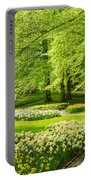 Grass Lawn With Daffodils  Portable Battery Charger