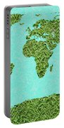 Grass World Map Portable Battery Charger