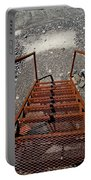 Gravel Pit Grinder Rusty Staircase Portable Battery Charger