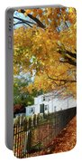 Graveyard In Autumn Portable Battery Charger