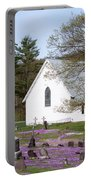 Graveyard Phlox Country Church Portable Battery Charger by John Stephens