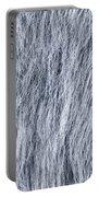 Gray Fake Fur Horizontal Portable Battery Charger