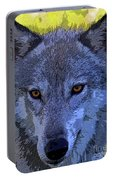 Gray Wolf Portrait Portable Battery Charger