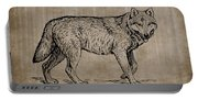 Gray Wolf Timber Wolf Western Wolf Woods Texture Portable Battery Charger