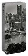 Grayscale Pittsburgh Portable Battery Charger