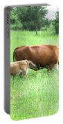 Grazing Cow And Calf Portable Battery Charger