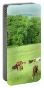 Grazing In The Morning Portable Battery Charger