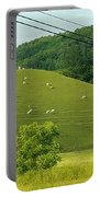Grazing On The Mountain Side Portable Battery Charger