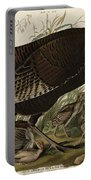 Great American Hen And Young Portable Battery Charger by John James Audubon