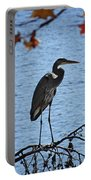 Great Blue Heron At Shores Of King's Mountain Point Portable Battery Charger
