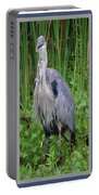 Great Blue Heron Collage Portable Battery Charger