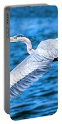 Great Blue Heron Flight Portable Battery Charger