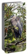 Great Blue Heron In A Tree Portable Battery Charger