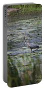 Great Blue Heron In Maine  Portable Battery Charger