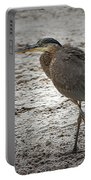 Great Blue Heron In The Snow Portable Battery Charger