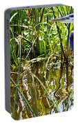 Great Blue Heron In The Wetlands Portable Battery Charger
