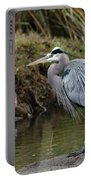 Great Blue Heron On The Watch Portable Battery Charger