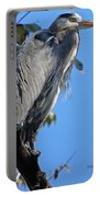 Great Blue Heron Perched Portable Battery Charger