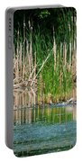 Great Blue Heron Strike Portable Battery Charger