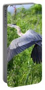 Great Blue Heron Takeoff Portable Battery Charger