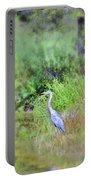 Great Blue Heron Visitor Portable Battery Charger