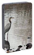 Great Blue Heron Wading 2 Portable Battery Charger