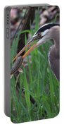 Great Blue Heron With His Catch Portable Battery Charger