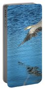 Great Blue In Flight #3 Portable Battery Charger