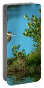 Great Blue On One Leg Portable Battery Charger
