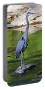 Great Blue Wading The Tuck Portable Battery Charger