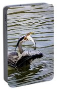 Great Blue With A Drum Portable Battery Charger