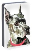 Great Dane Watercolor Portable Battery Charger