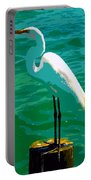Great Egret Emerald Sea Portable Battery Charger