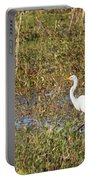 Great Egret Fishing Portable Battery Charger