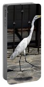 Great Egret In The Neighborhood Strutting 1 Portable Battery Charger